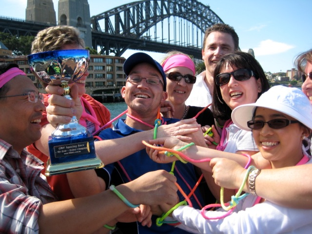 sydney amazing race team building activity winners