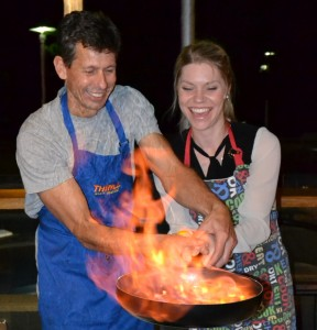 Thrilling Corporate cooking competition with fire at The Sydney International Conference Center