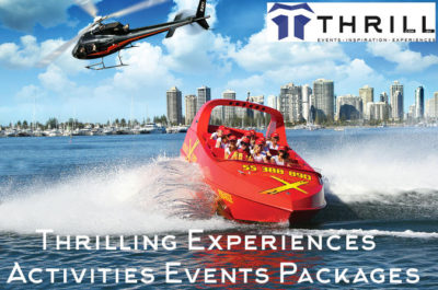 Thrill experiences and events Gold Coast Activities with Jet Boats and Helicopters