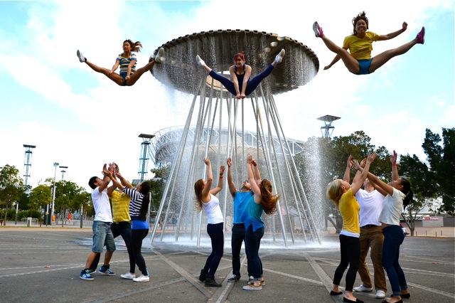 Flash mobs in Sydney Olympic Park to Thrill teams