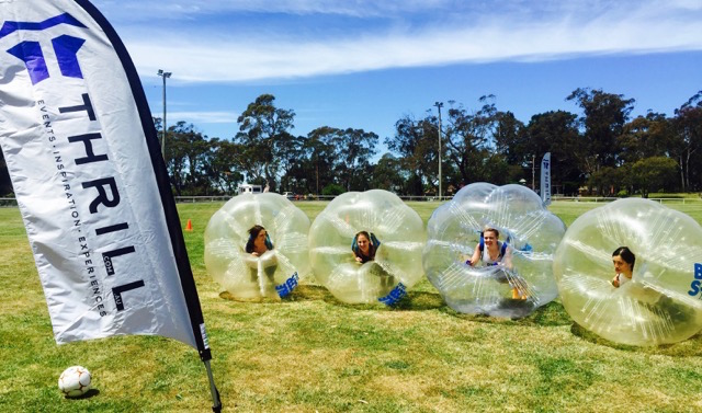 Bubble Soccer Games played in Sydney, Hunter Valley and Blue Mountains for fun corporate events