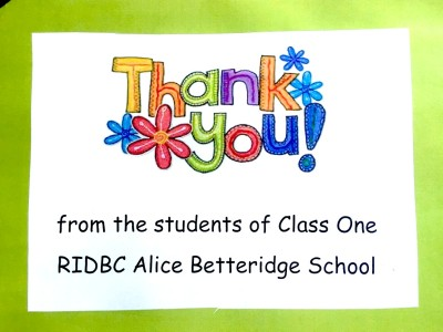 Children's Charity team building thank you from RIDBC Kids in Parramatta