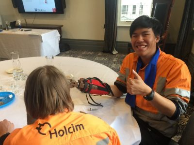 LaFarge Holcim Graduates building Helping Hands with Thrill csr facilitators in Melbourne, Sydney and Brisbane