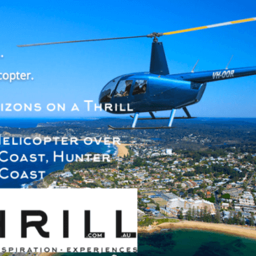 Helicopter Thrill experiences over The Central Coast only 1hr from Sydney
