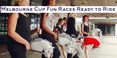 Melbourne cup galloping fun indoor team games