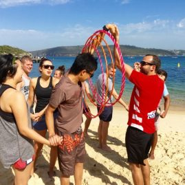 Q Station Team Building Games on the Beach will Thrill your team