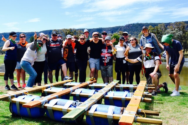 survivor games team building immunity challenges and raft building for corporate groups Sydney to Gold Coast