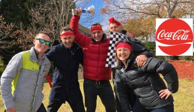 Coca Cola Amatil Team Building leadership teams on Blue Mountains Amazing Race at The Fairmont Resort events