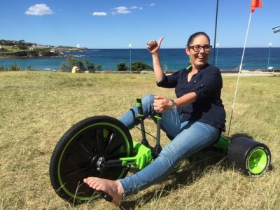 CSR Corporate team building green machines trikes in Sydney for children's charities