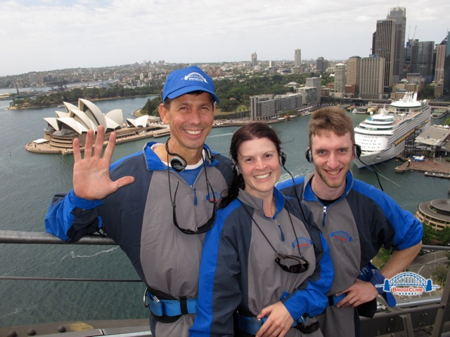 Thrill staff team enjoying the experience of Sydney Harbour Bridge Climb Activities