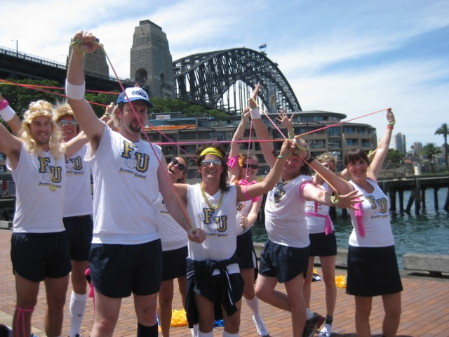 Sydney Amazing Race Team Building Activities Crew handcuffed in The Rocks