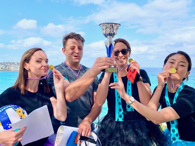 Amazing Race Australia's Champion Winners Thrill Trophy