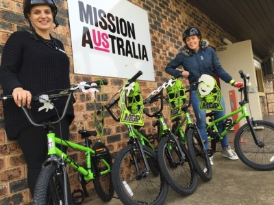 Build a Bike Charity Team Building Activity Donation to Mission Australia Kids in Campbelltown