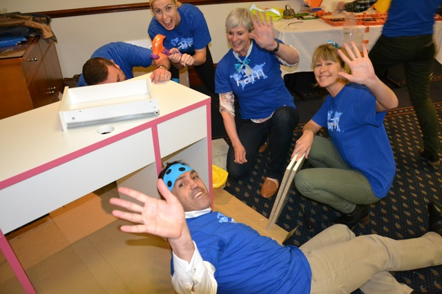 Medtronic Team Building Furniture for the Smith Family and Families through Sydney