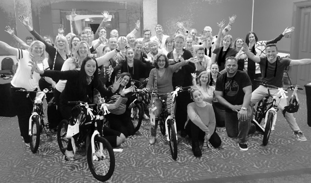 Corporate bike building teamwork for kids charity BW Sydney