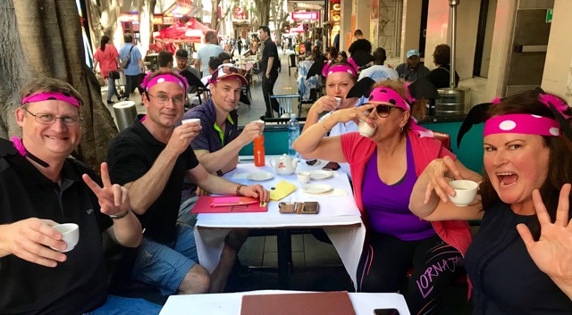 Thrill fun Amazing Race activities team eating corporate challenges with all the tea in Sydney China Town
