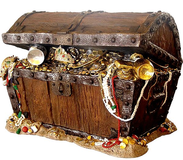 Treasure Hunt Pirates Treasure Chest filled with thrilling bounty for corporate team building activity groups christmas celebrations