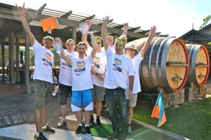 Hunter Valley Amazing race wine barrel activities Corporate Events at Potters Brewery next to Crowne Plaza conference venues on an exceptional conference achieving success and winning