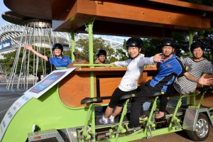 The Thrill team show off Australia's biggest bike bike activities at Sydney Olympic Park