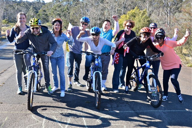 Blue Mountains team building activities amazing race cycling