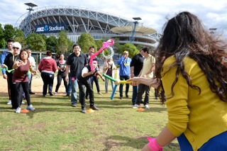 Sydney Olympic Park Team Building activities by Thrill for CBA at ANZ Stadium