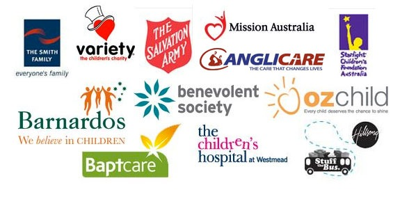 Thrill's Australian Children Charity partners