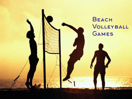 Beach Volleyball Games and competitions on the beach in Sydney and Gold Coast by Thrill Surf Coast water event professionals