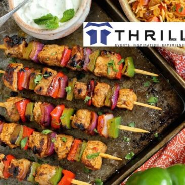 Vegetable Kebab and BBQ mobile catering by Thrill Foods
