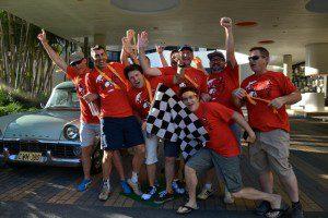SIKA teams arrival QT Surfers Paradise