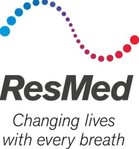 ResMed Chaning Lives with every breath logo