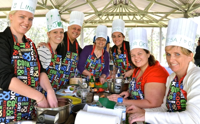 Outdoor Team Building cooking in Parramatta with Thrilling ingredients