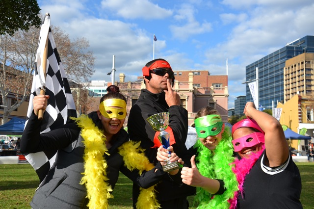 parramatta amazing race events for buisness staff and employees to team bond or enjoy large group corporate challenges