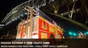 fire engine Sydney party bus