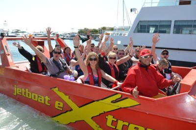 Jet boating Thrills on a Surfers Paradise Gold Coast team building amazing race event