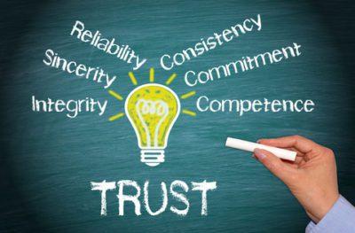 leadership-trust reliability, sincerity, integrity