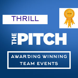 award winning team building The PITCH by Thrill events