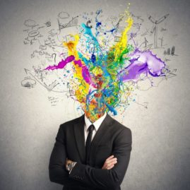 Creating team building art works with the mind for corporate groups