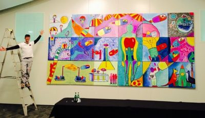 Master Piece Creative artwork by Bayer agm conference with Thrill Art Faciliattors
