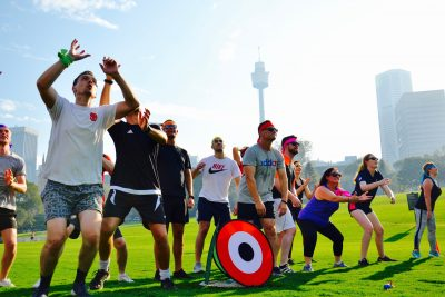 Sydney team challenges and games in Hyde Park and Botanic Gardens to become winners
