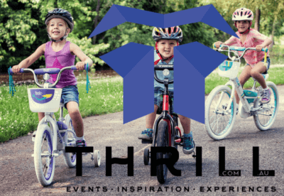 3 kids cycling bikes built for charity team building thrill experiences