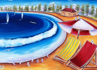Beach art works on the Coast of Australia near Sydney