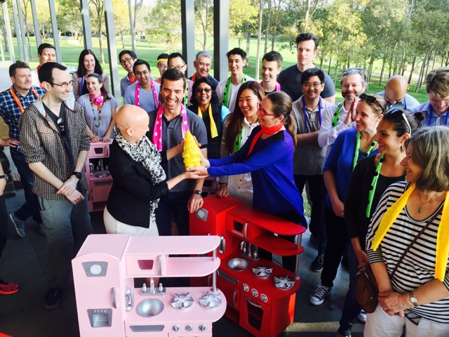 teams receiving their rewards for building Toys 4 Kids in Sydney Olympic Park - The most engaging team building that challenges perceptions and informs corporate groups decision making when it comes to selecting their staff training.
