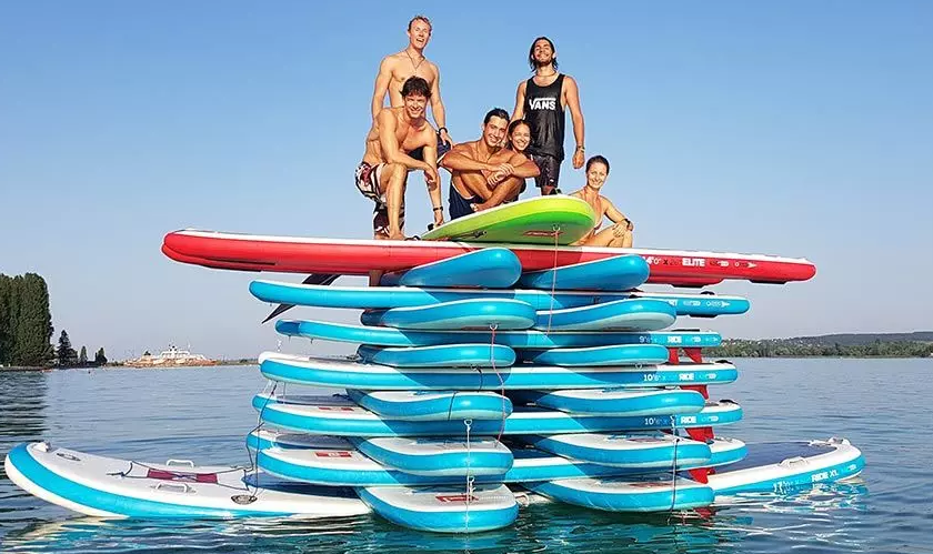 Stand Up Paddle Board Water Based Games for team events on Central Coast, Sunshine Coast and Gold Coast beaches