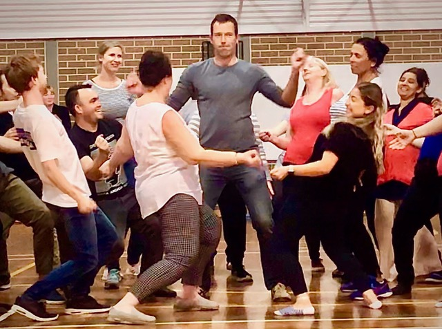 East Hills Sydney Flash Mob Dancing to Queen Icon Rock Songs Unites Educators