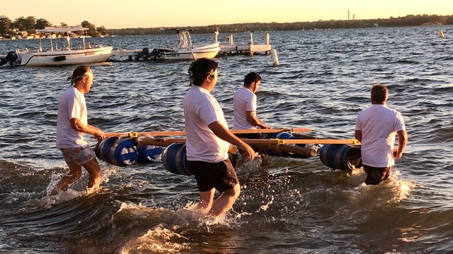 Conference activities facilitated raft-building-lake-macquarie