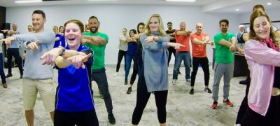 THRILL-Corporate-Dance-Class to celebrate your staff and get them all moving together so that they can dance and laugh together