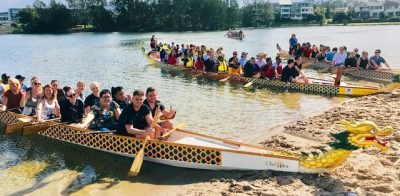 dragon boat race events with Thrilling fun on the Gold Coast for RACV delegates conference Surfers Paradise event