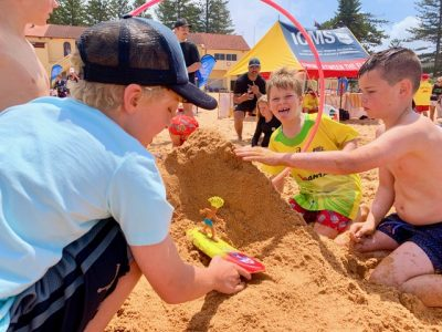kids-team-beach-sand-sculpting fun on the beach games with Thrill events