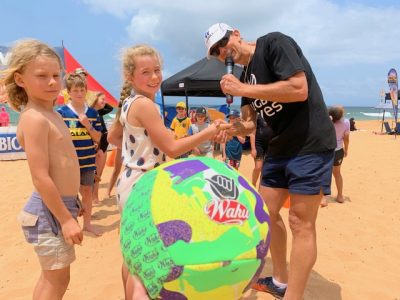 Wahu beach branding with Rugby Fives 5's activation with Thrill for children's and adults games