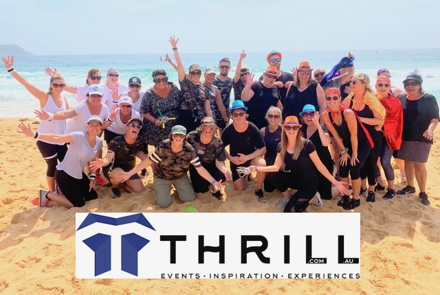 Terrigal Crowne Plaza team Building activities for groups on the beach